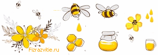 Рис. цветы-пчёлы-мёд
