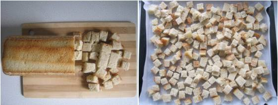 Фото: Домашние сухарики в духовке