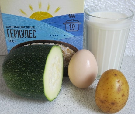 Фото: Молочный суп (кабачок, геркулес, картофель, яйцо)